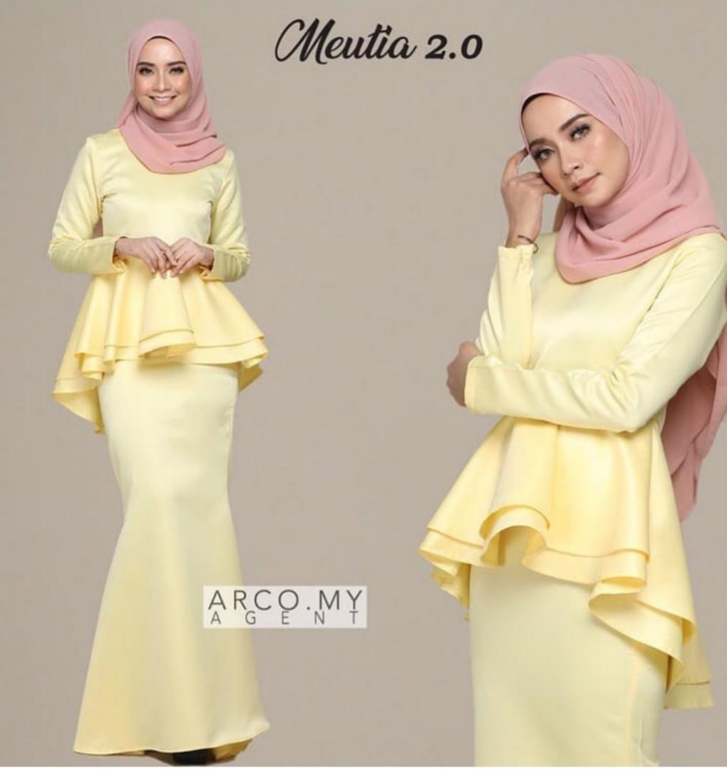 Size S Baju kurung kuning Peplum arco my Muslimah Fashion
