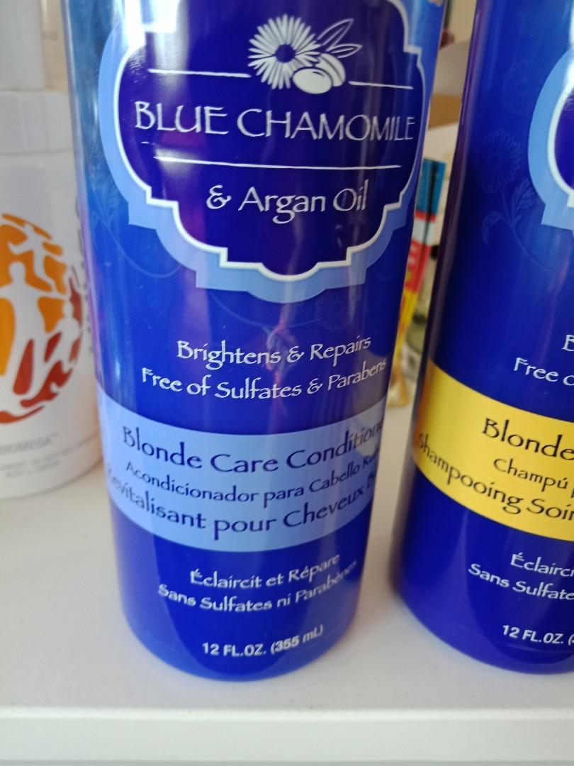 Blue Chamomile - Blonde care conditioner & shampoo