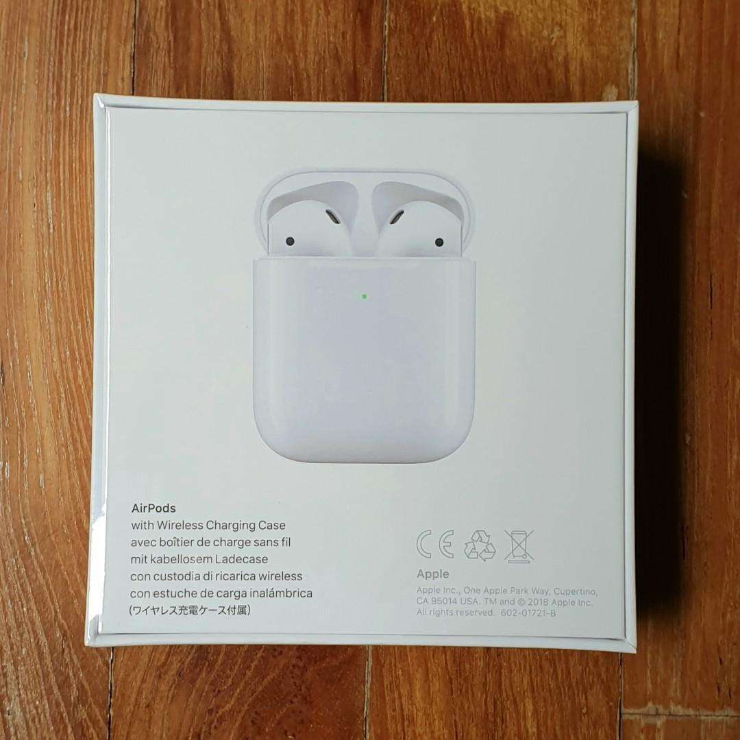 BNIB Apple AirPods 2 with Wireless Charging Case