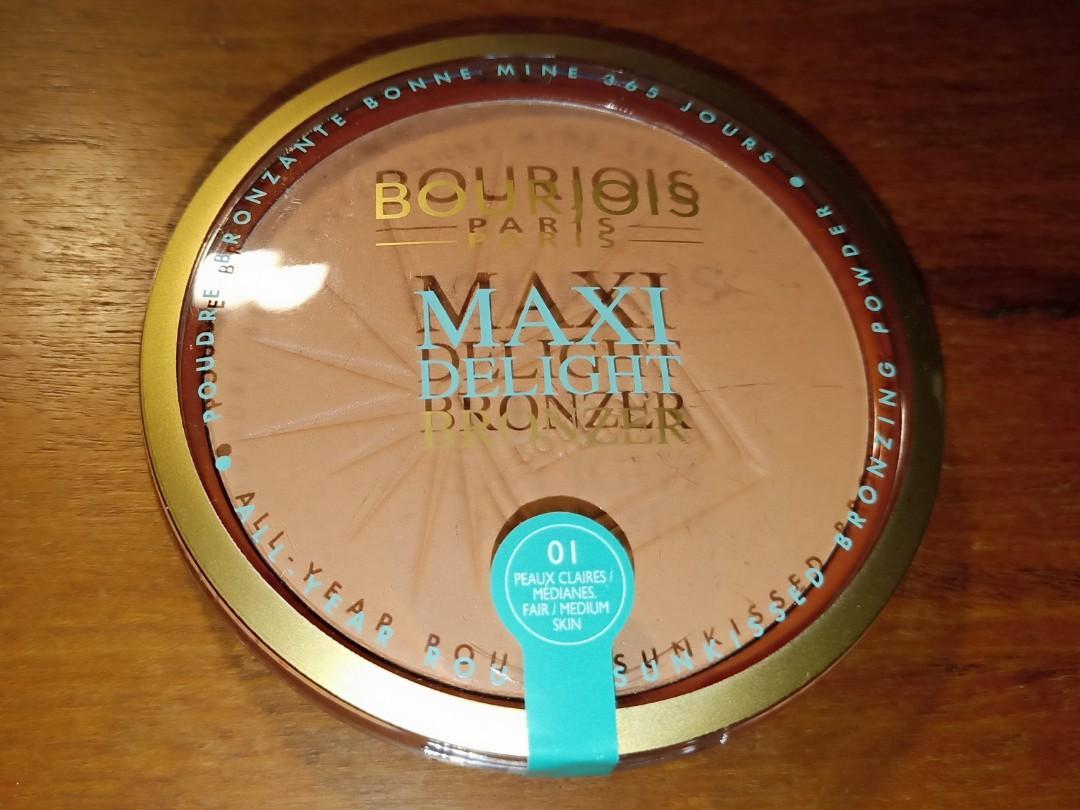 Bourjois Maxi Delight Bronzer 01 Fair/Medium Skin Brand New Sealed