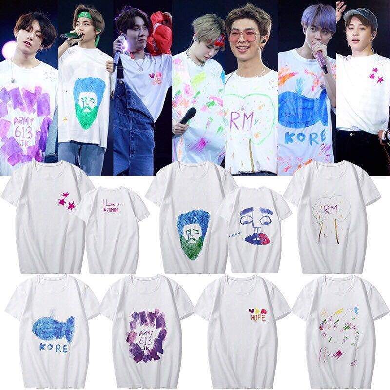 BTS 5th Muster Magic Shop Hand Painted Shirt, K-Wave on