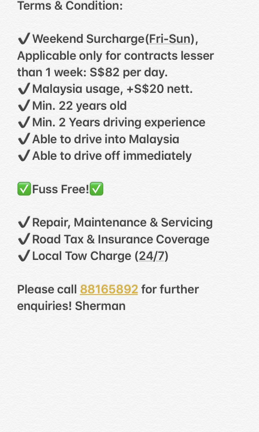 CHEAP CAR RENTAL UP FOR GRABS! FAST&EFFICIENT CHEAP CARS FOR RENT/ RENTAL PERSONAL / GRAB / RYDE / LALAMOVE DRIVERS WELCOME!