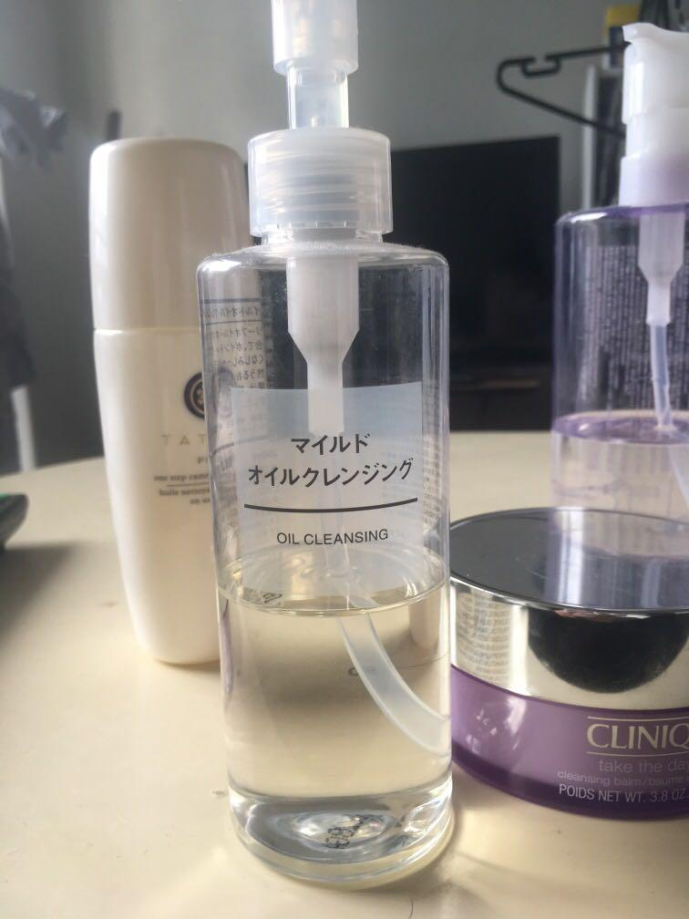 Cleansing products - Shu Uemura, Muji, and Daiso