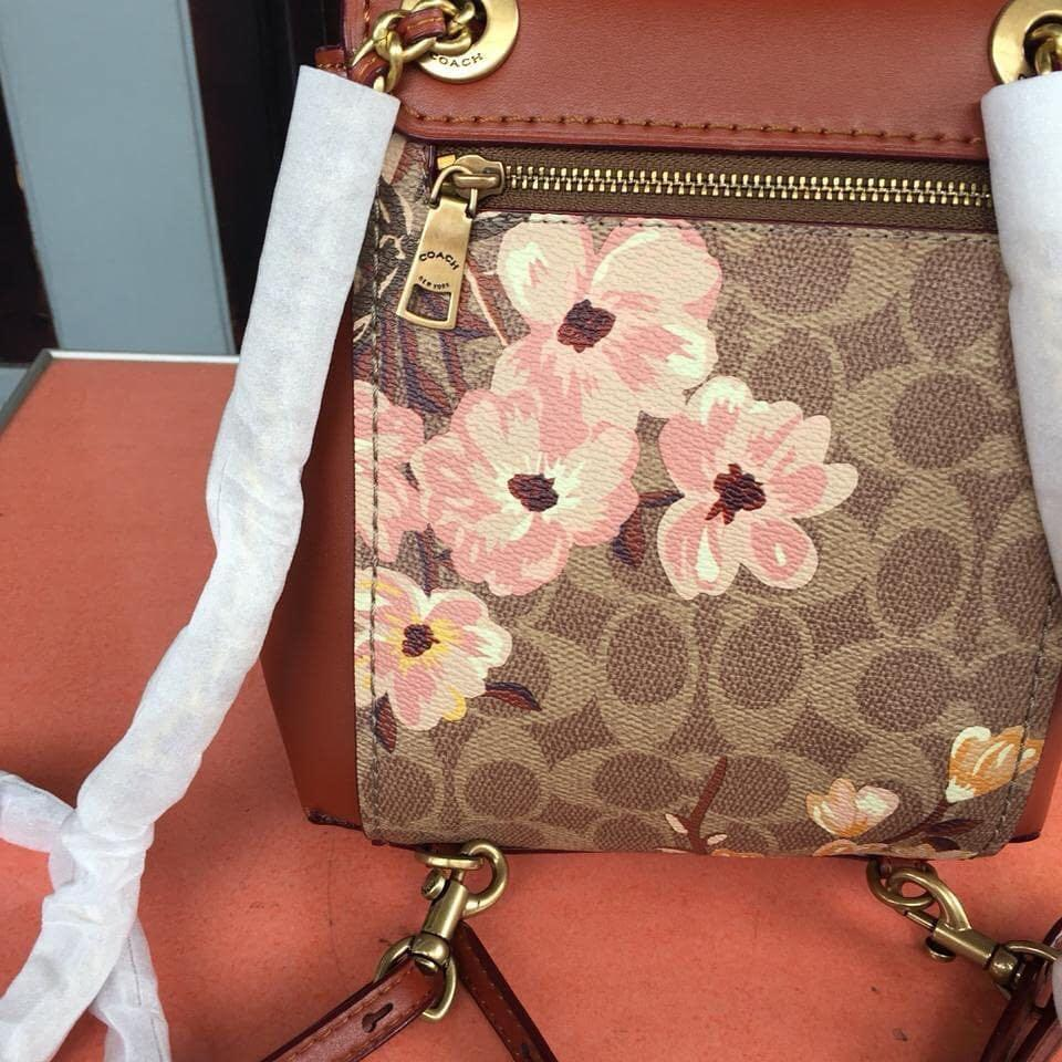 Coach parker Convertible Back pack in Signature Floral print Like New