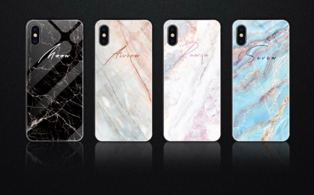 low priced 7977e c09e5 Customised marble style phone case