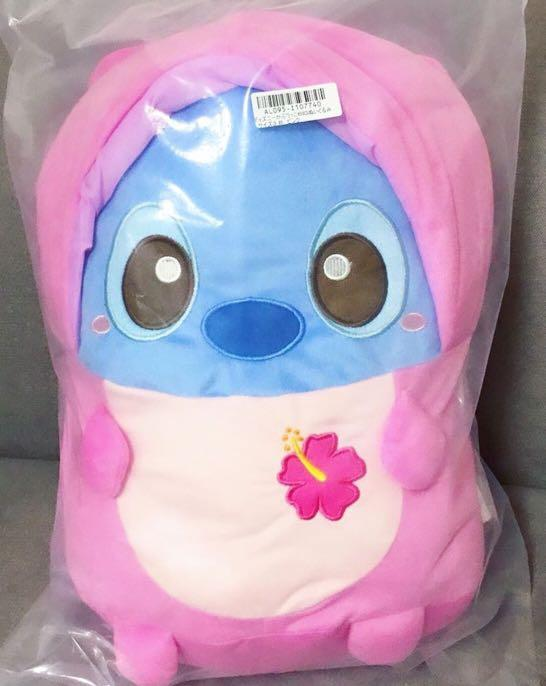 Disney Stitch - Limited Edition Angel Hooded Stitch Large Plushy Cushion