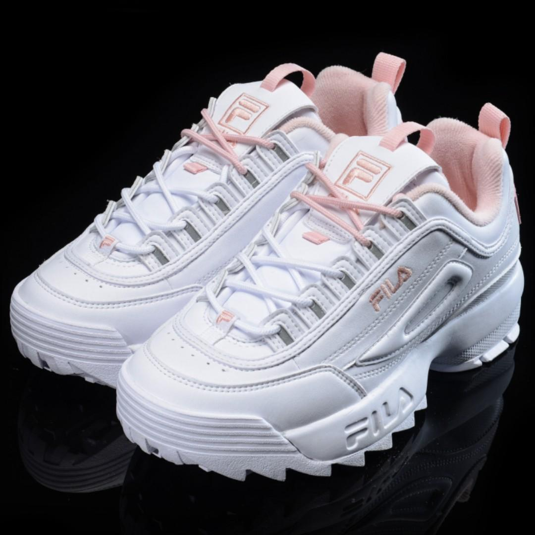Fila disruptor 2 white pink shoes