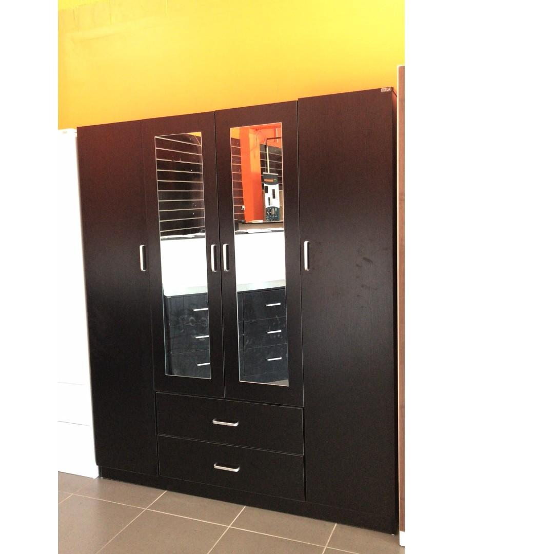 Free Delivery and Assembly ! 4 Door 2 Drawer Wardrobe at $580