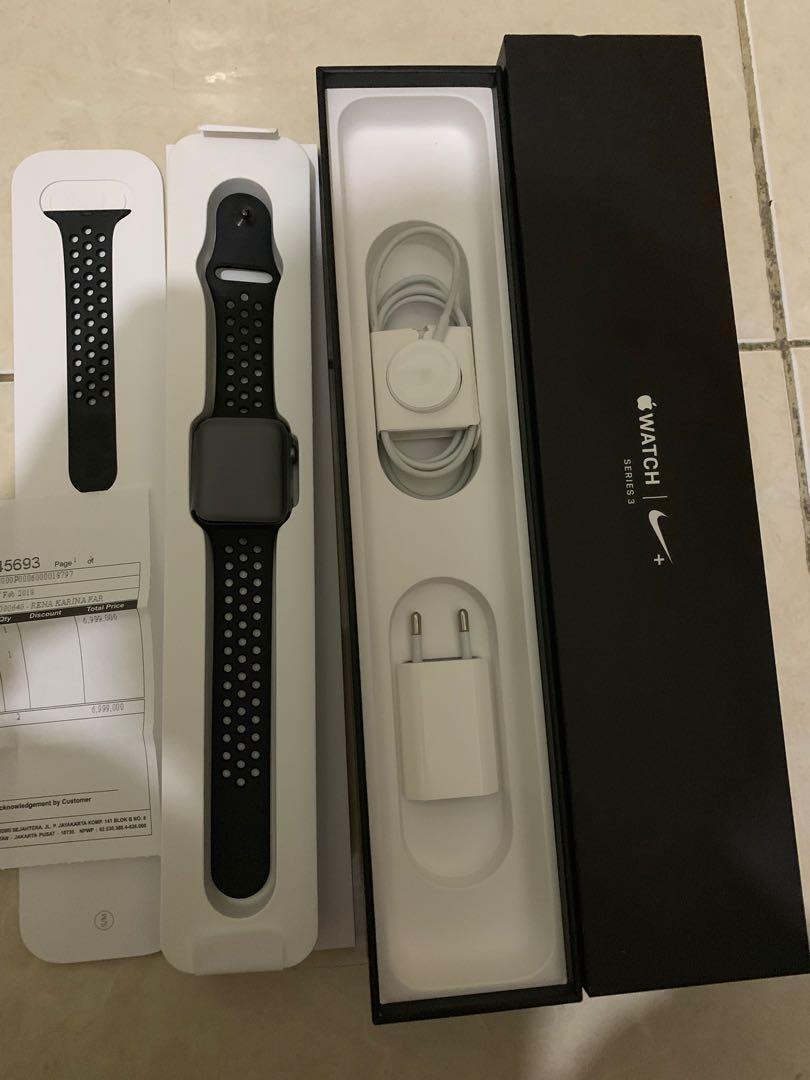 Infinite Garansi Resmi Apple Watch 3 Nike Plus Original Bonus Strap Milanese Original Ibox