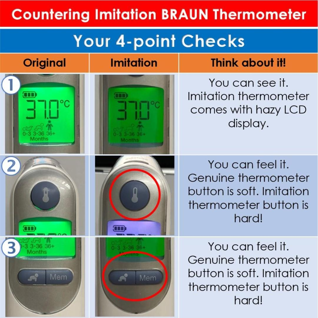 [August Super Sales] Brand New & Authentic BRAUN Thermoscan 7 Ear Thermometer IRT6520 Bundled with EXTRA 40 pcs of Original Braun Probe Covers (Lens Filters) and 2 YRS WARRANTY & FREE SAME DAY DOORSTEP DELIVERY at S$83!