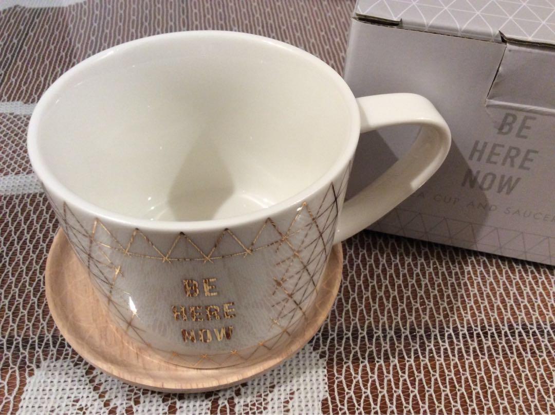 🆕kikki.K 茶杯陶瓷杯連木碟 tea cup and saucer