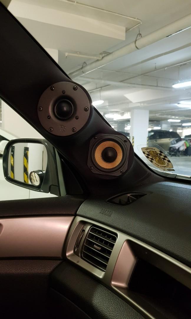 Car audio setup, amplifiers, subwoofer, headunit, processor