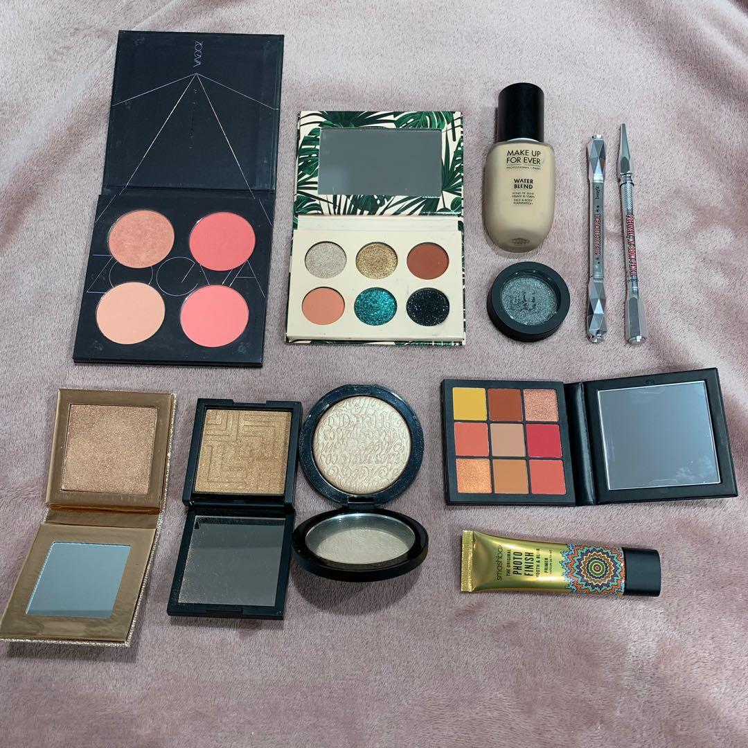 Makeup for sale- Huda, Smashbox, Zoeva, Melt & dose of colors