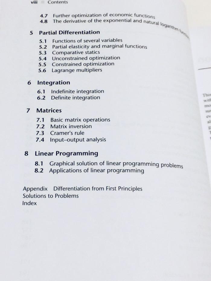 Mathematics for Economics & Business