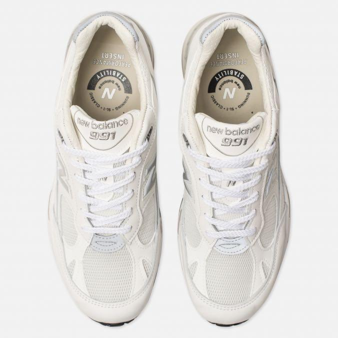 New Balance M991 Made in UK M991WHI White Leather, Men's