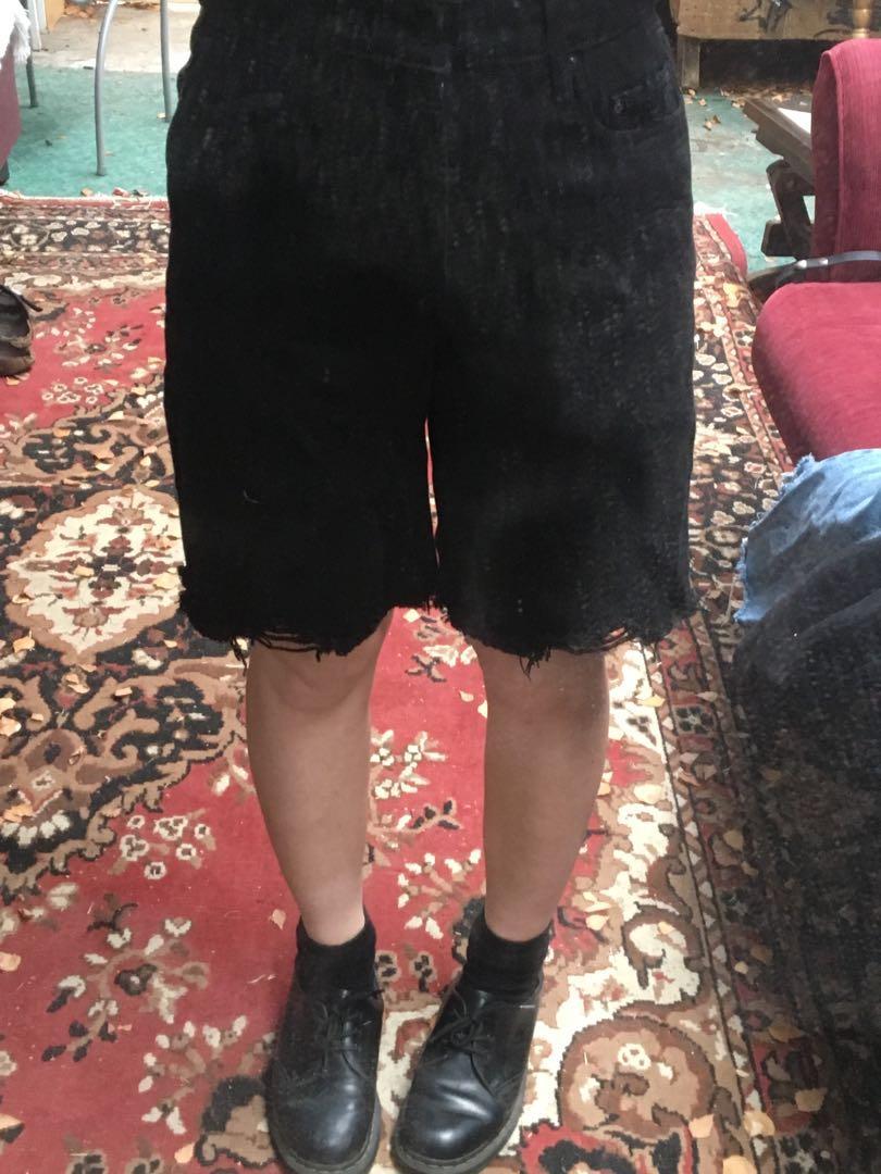 Nobody denim black Tyler shorts - sample never been worn