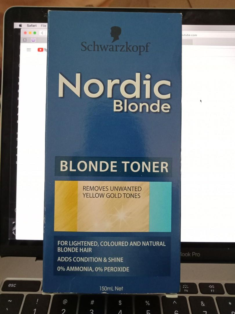 Nordic - Blonde hair toner // removes unwanted gold tones