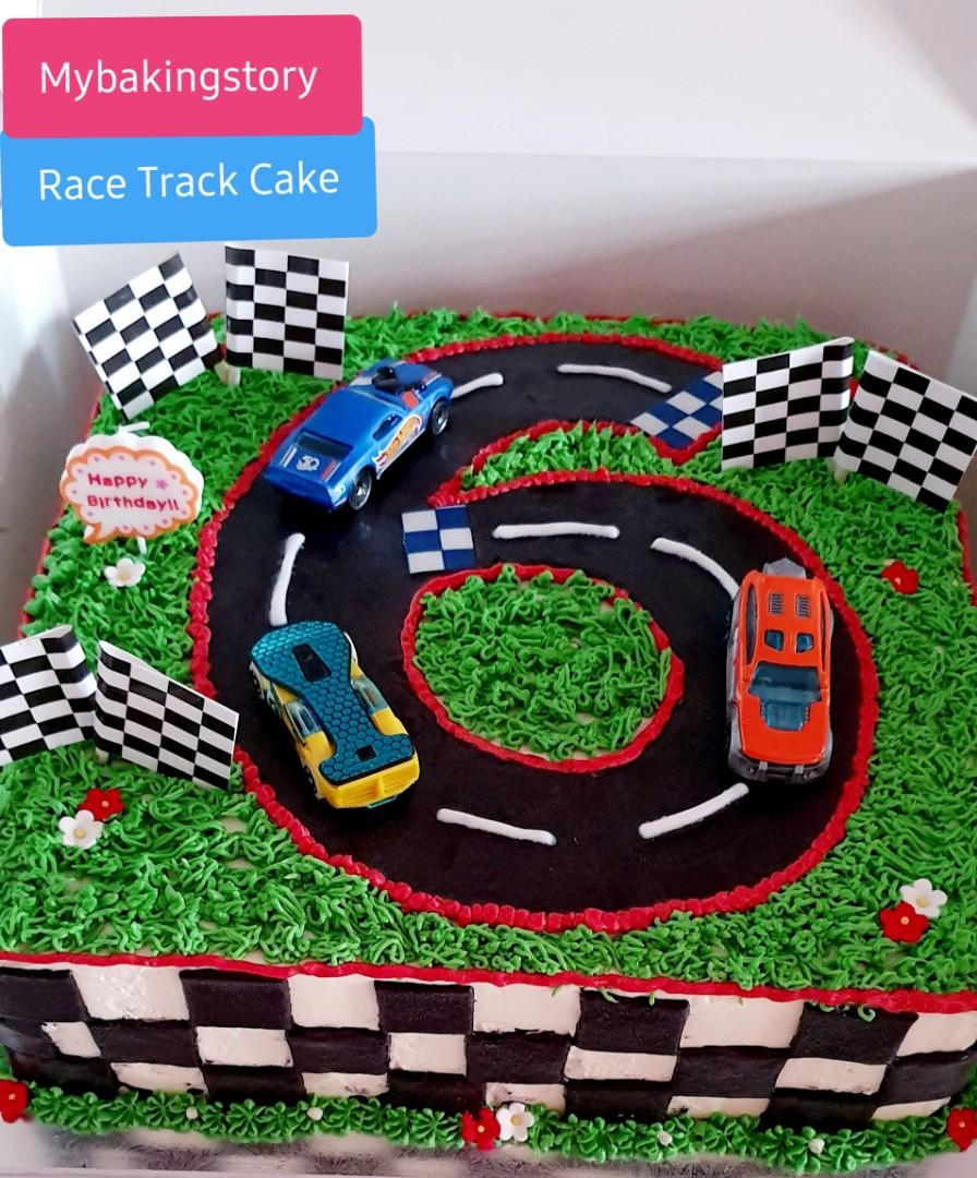 Race Track Cake Food Drinks Baked Goods On Carousell