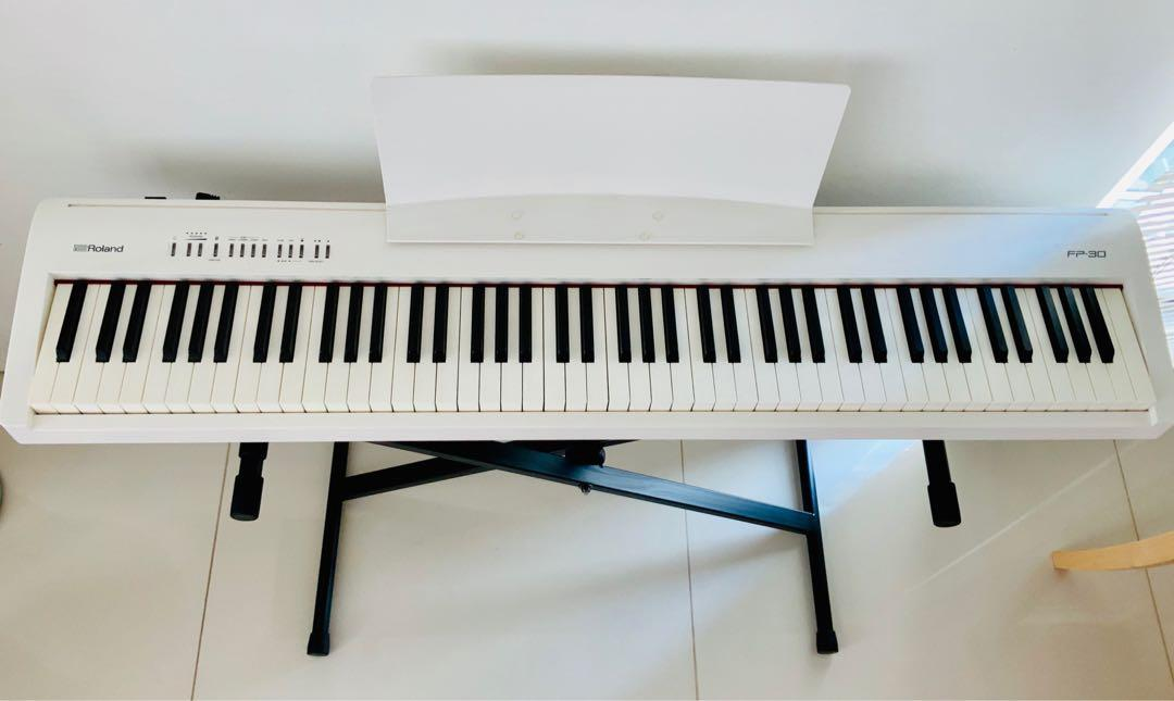 Roland Fp 30 Digital Piano With Stand And Accessories Music Media Music Instruments On Carousell