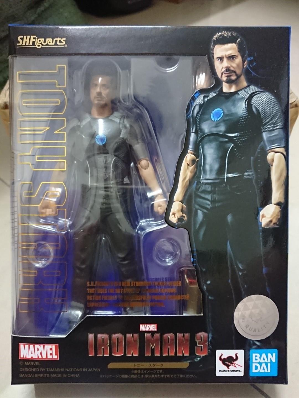 SHF S.H.Figuarts Avengers Tony Stark Iron Man 3 Action Figure New Free Shipping