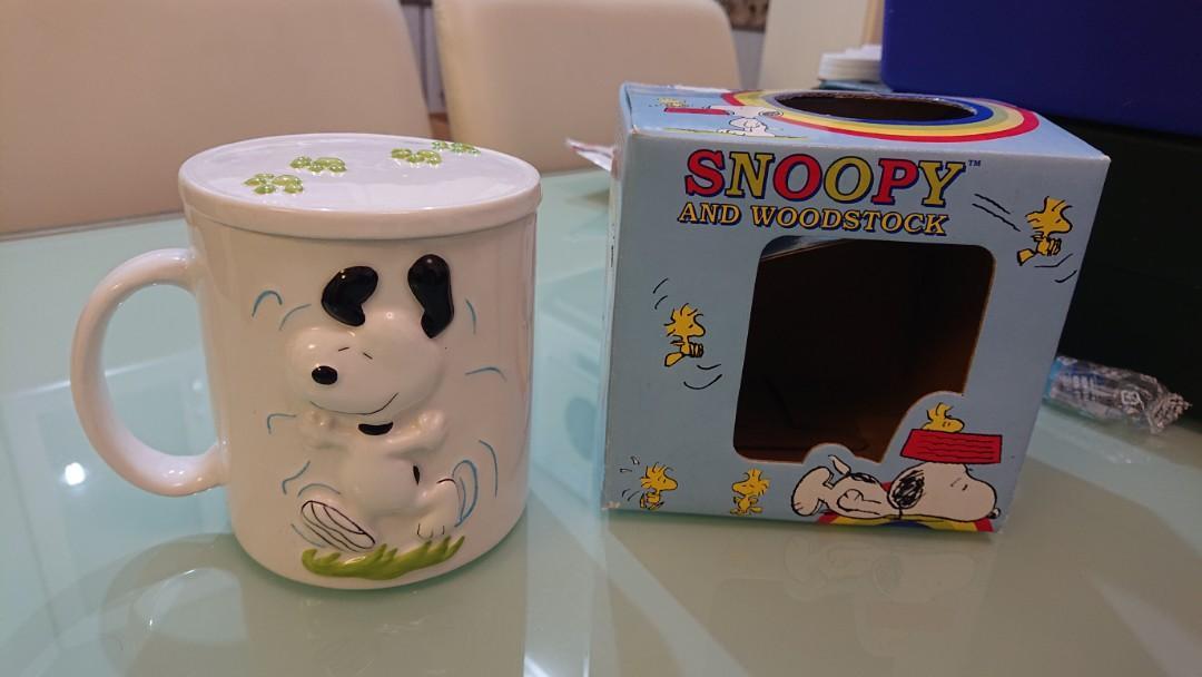Snoopy有蓋杯