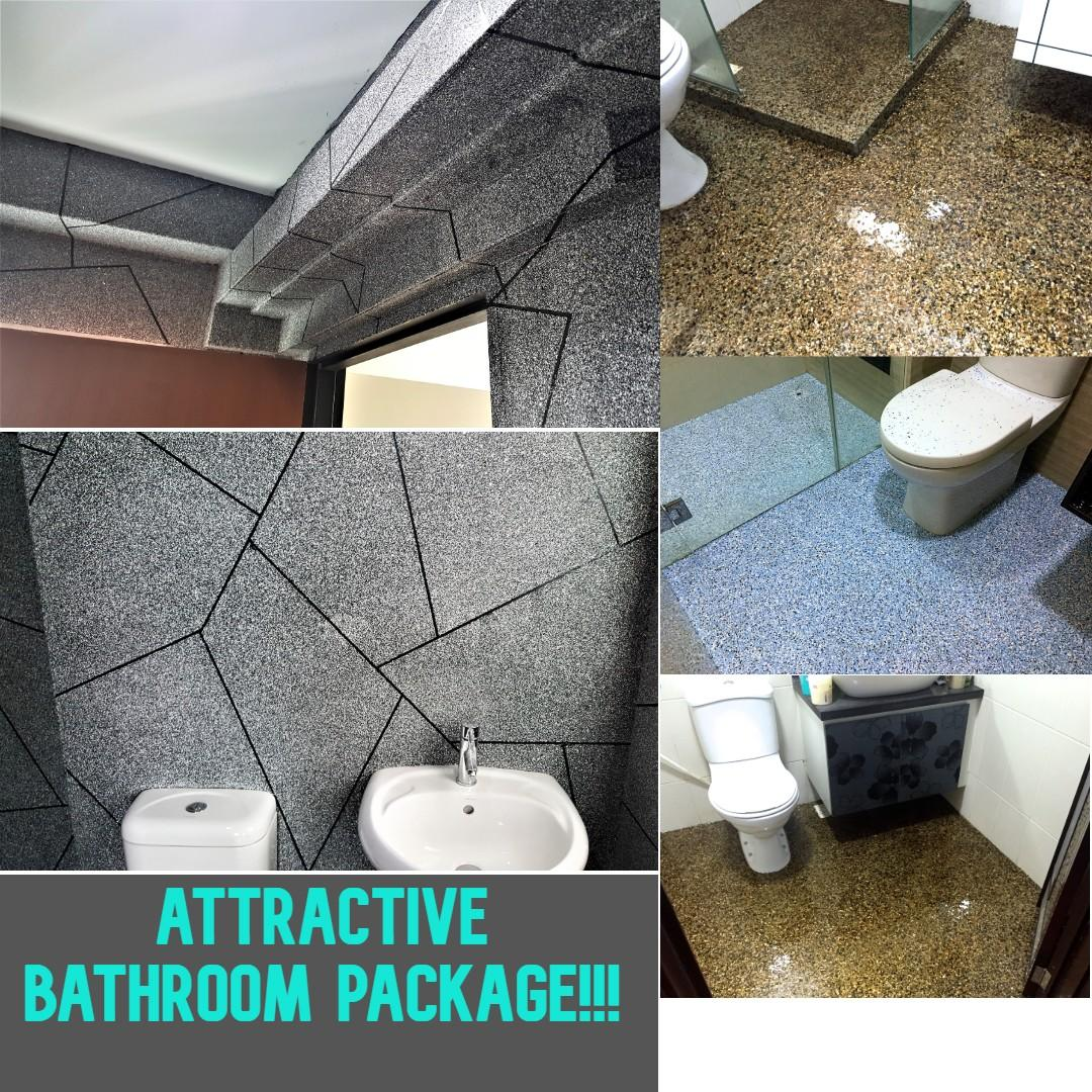 TOILET FLOORING, BATHROOM FLOORING, NO HACKING!!! EPOXY COATING!! NEW THING IN TOWN!!!