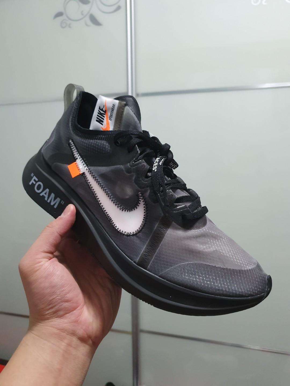 US11 Off White Nike Zoom Fly Black, Men's Fashion, Footwear