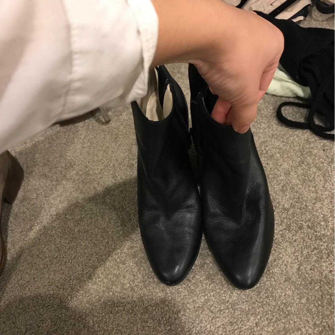 Zara Leather boots + Glasson sueded boots (2 pairs)