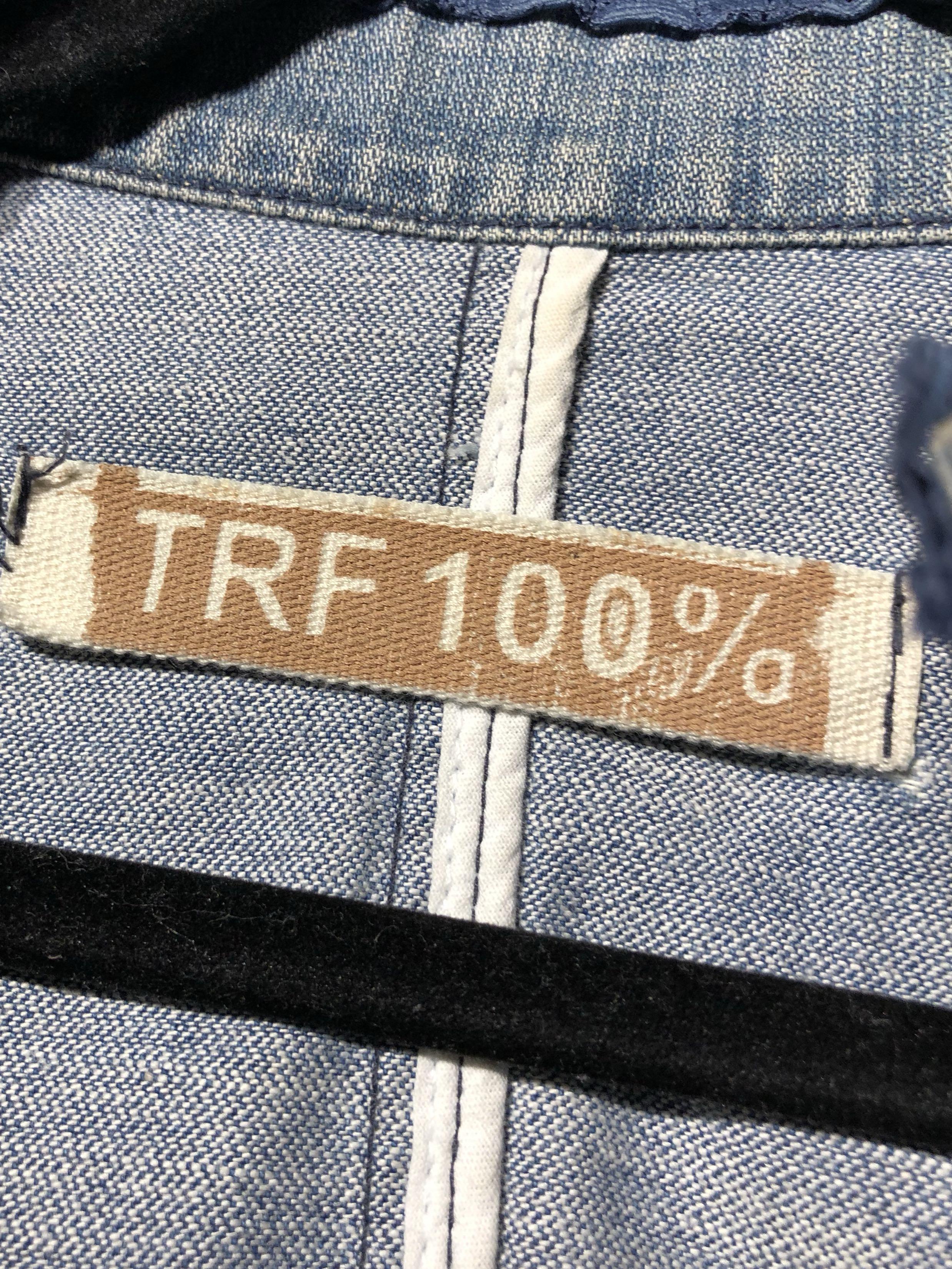 ZARA TRF Denim Jacket Size Small