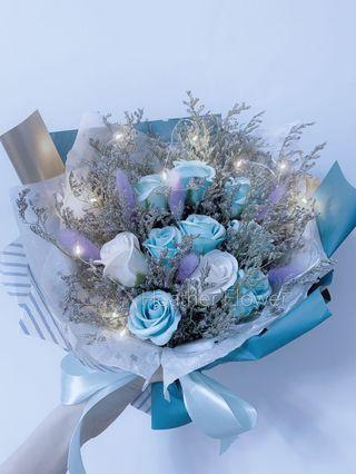 滿天星 花束 玫瑰花 畢業花束 禮物 全新