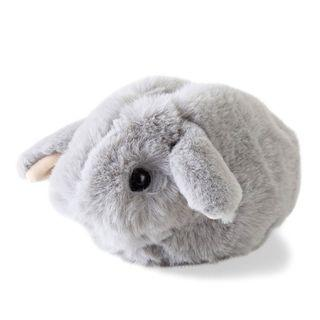 鬆鬆毛BB垂耳兔小袋 (灰)