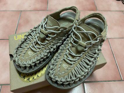 Keen 涼鞋 編織 卡其色 駝色 土色 23.5cm