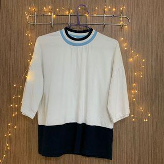 🚚 White and blue ulzzang Blouse