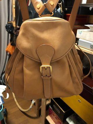 Gucci Tan Leather Classic Backpack