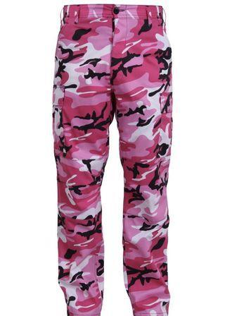 Pink Camo Cargo Pants