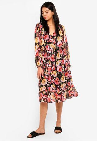 Cotton On Woven Raquel Winter Max Floral Dress BNWT