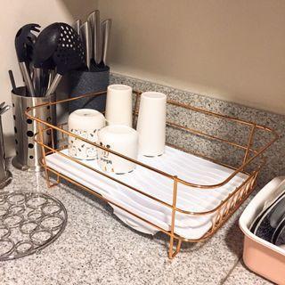 Rose Gold Dish Rack