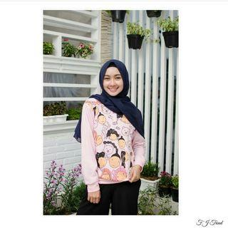 Sweater Pink Sweet Face