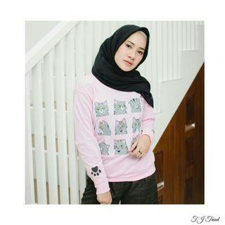 Sweater Pink Cat Face