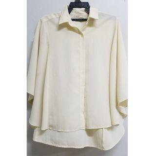 Batwing cream blouse