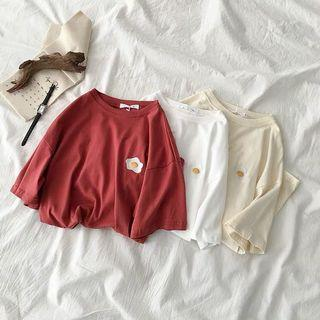 "[PO] 2019 Korean style ""egg"" embroidered top"
