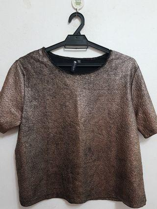 FREE Cotton On Glittery Crop Top