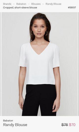 babaton cropped randy blouse