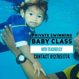 Private baby swimming class