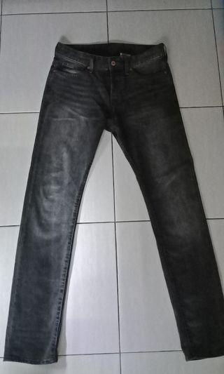 Trouser slim fit DENIM H&M
