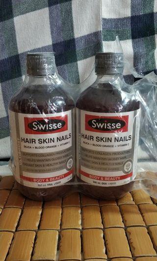Swisse hair skin nails 500ml (due on 2020-06)