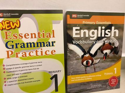 English Assessment Books (primary 1 grammar, vocabulary and writing)