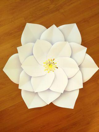 Paper Flower Backdrop Decoration