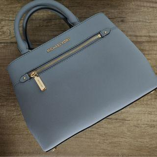 BNWT Michael Kors Hailee Pale Blue Satchel | Handbag | Crossbody | Sling Bag | Real Leather