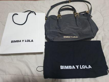 Bimba Y Lola Grey Crossbody Tote Bag